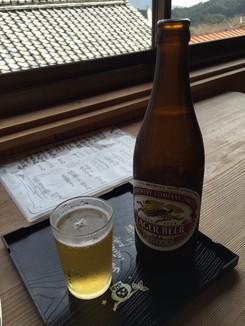 清涼亭でビールを頂く