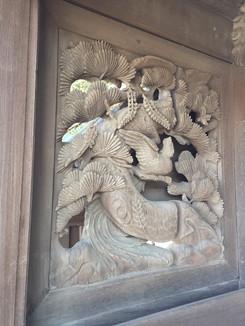 紀三井寺 裏門の彫刻