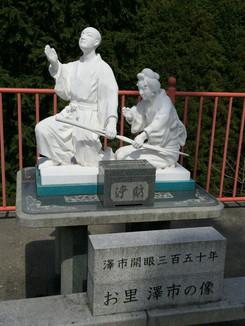 お里 澤市の像