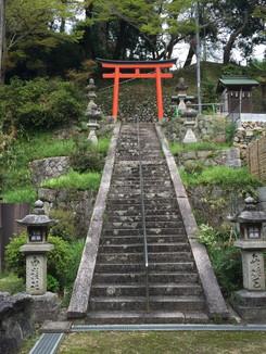 白髪神社 参道の石段