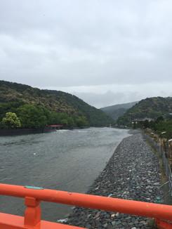 宇治川上流方向