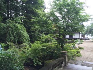 薬師堂裏手の庭園