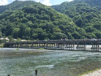 渡月橋を望む
