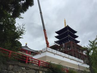 中山寺五重塔再建工事