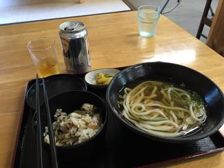 山菜うどん定食